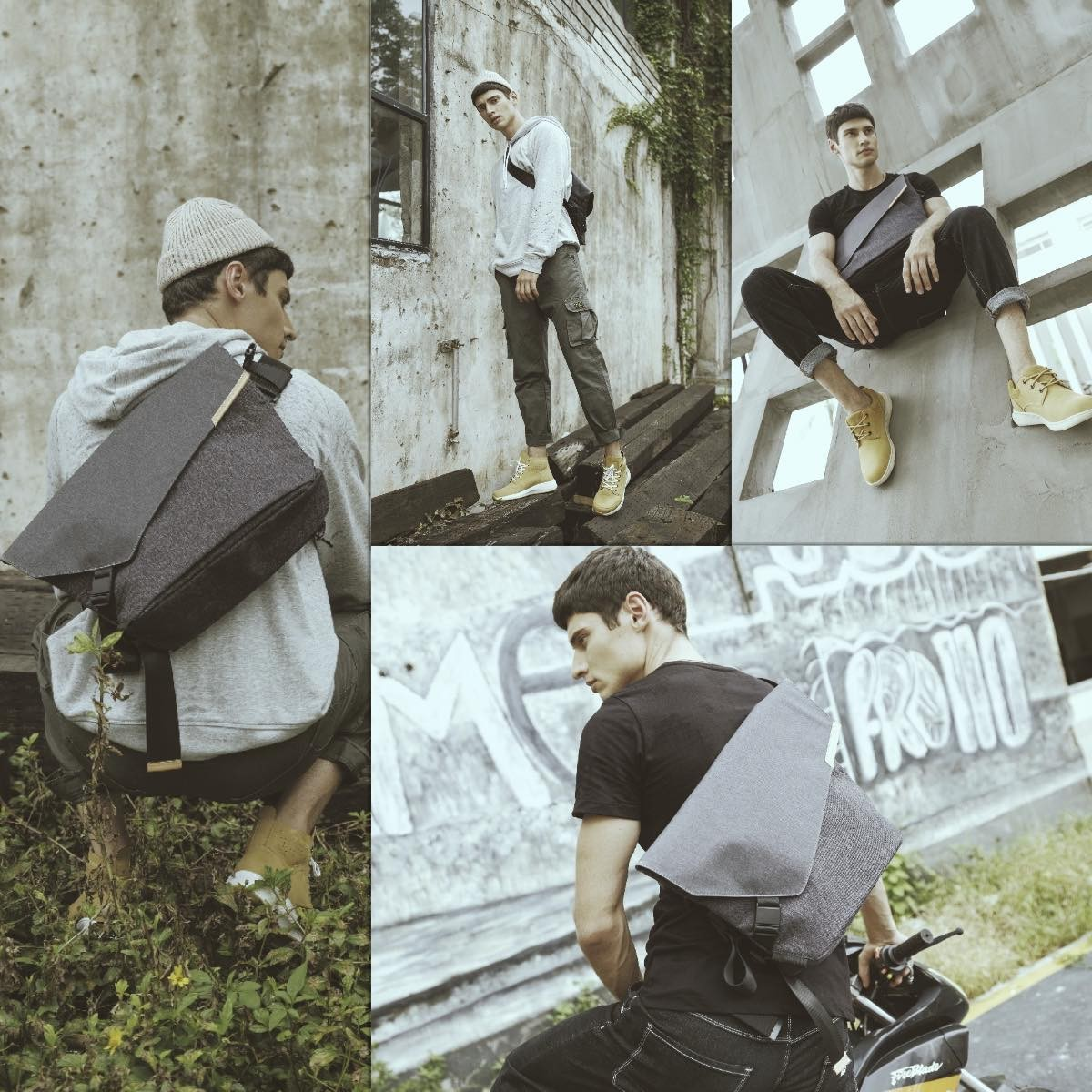NIID X URBANATURE GEO SLING BAG 13inch